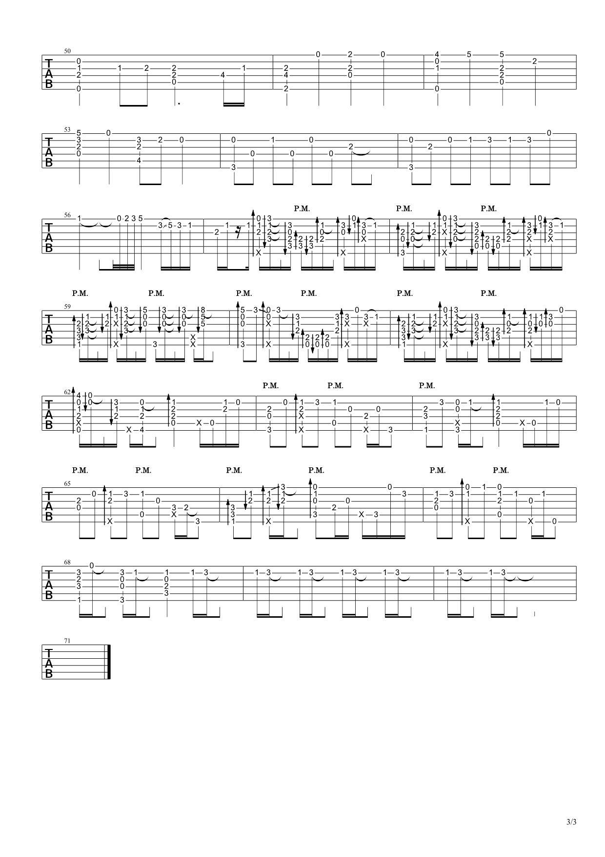 米津玄师《lemon》吉他谱 高清指弹吉他谱3