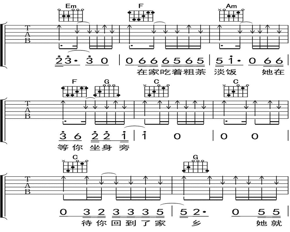 隔壁老樊《你是姑娘不是我的新娘》吉他谱 C调民谣吉他弹唱谱7