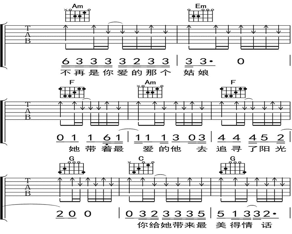隔壁老樊《你是姑娘不是我的新娘》吉他谱 C调民谣吉他弹唱谱8