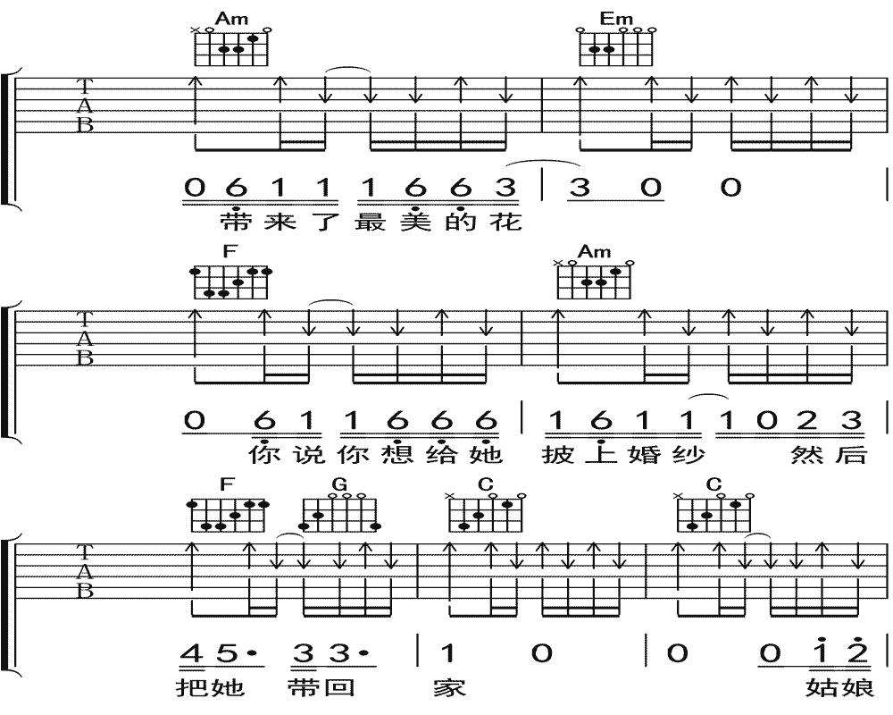 隔壁老樊《你是姑娘不是我的新娘》吉他谱 C调民谣吉他弹唱谱9