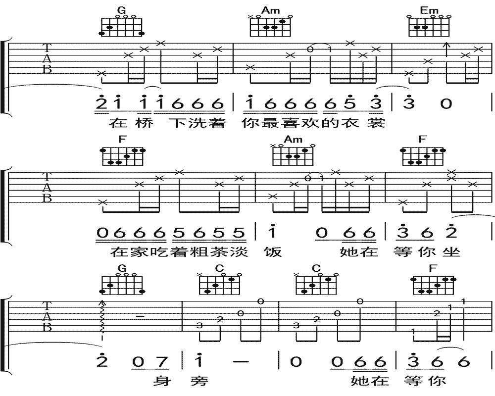 隔壁老樊《你是姑娘不是我的新娘》吉他谱 C调民谣吉他弹唱谱13